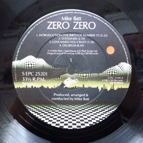 MIKE BATT - Zero Zero (UK Orig.LP+Booklet/Stickered GS)