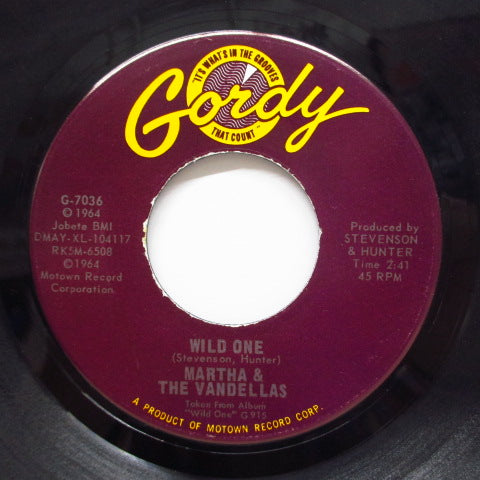 MARTHA & THE VANDELLAS - Wild One / Dancing Slow (Orig)