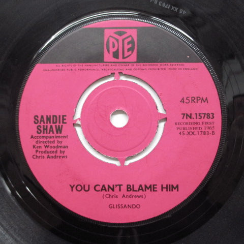 SANDIE SHAW - You Can't Blame Him (UK Orig: Round Center)