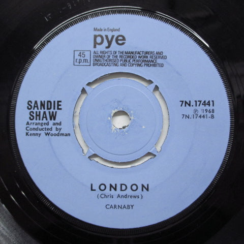 SANDIE SHAW - Today (UK 2nd Press / Round Center)