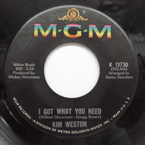 KIM WESTON - I Got What You Need (Orig)