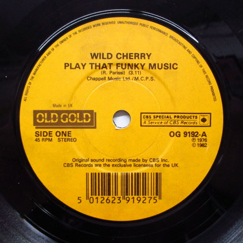 WILD CHERRY / JOE TEX - Play That Funky Music (UK Reissue+PS)