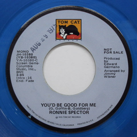 RONNIE SPECTOR - You'd Be Good For Me(Promo Blue Vinyl)