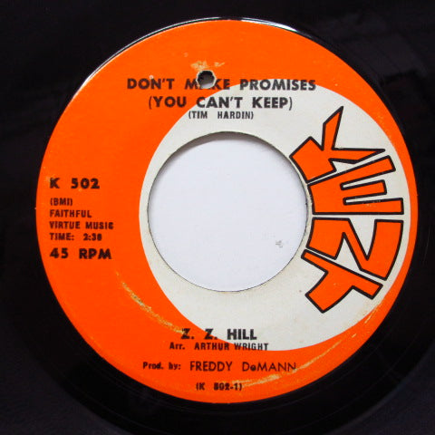 Z.Z. HILL - Don't Make Promises (Orig)