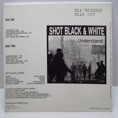 SHOT BLACK & WHITE - Understand (UK Orig.LP)