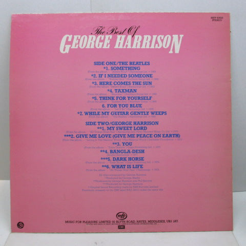 GEORGE HARRISON - The Best Of George Harrison (UK '81 M.F.P.Reissue)