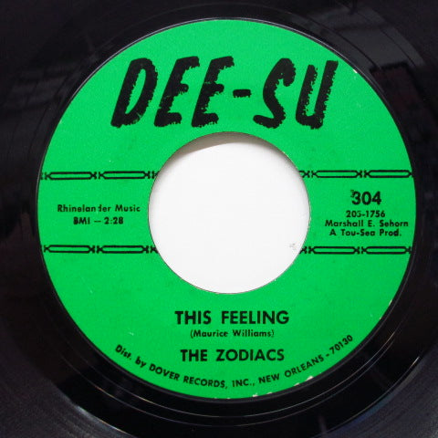 ZODIACS (MAURICE WILLIAMS & THE) - May I / This Feeling (Dee-Su)