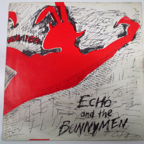 "ECHO & THE BUNNYMEN - The Pictures On My Wall (UK 2nd Press 7""/Yellow & Green Lbl.)"