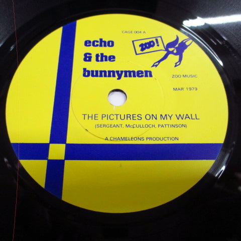 "ECHO & THE BUNNYMEN - The Pictures On My Wall (UK 2nd Press 7""/Yellow & Blue Lbl.)"