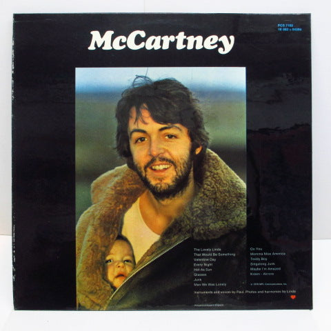 PAUL McCARTNEY - McCartney (UK 70's Capitol Re LP/CGS)