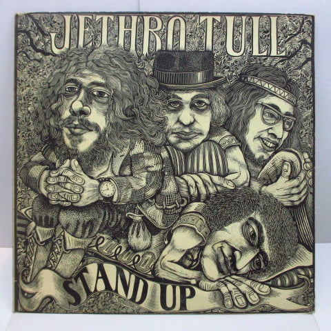 JETHRO TULL - Stand Up (UK Orig.Red Ball Pink Lbl.LP/Pop-Up GS)