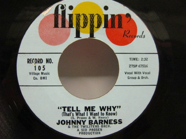 JOHNNY BARNESS  - Tell Me Why / No Love For Me