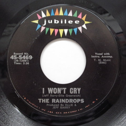 "RAINDROPS - Book Of Love (US Orig.No LIned Label 7"")"