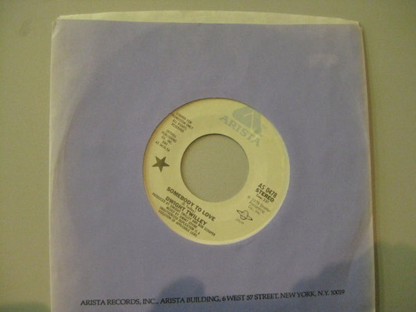 "DWIGHT TWILLEY - Somebody To Love (US Promo 7""+CS)"