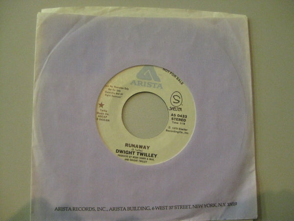 "DWIGHT TWILLEY - Runaway (US Promo 7""+CS)"