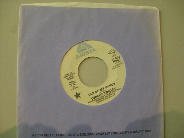 "DWIGHT TWILLEY - Out Of My Hands (US Promo 7""+CS)"