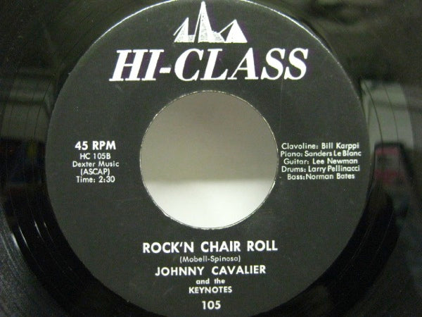 JOHNNY CAVALIER & THE KEYNOTES - Rock'n Chair Roll / Knock Off The Rock