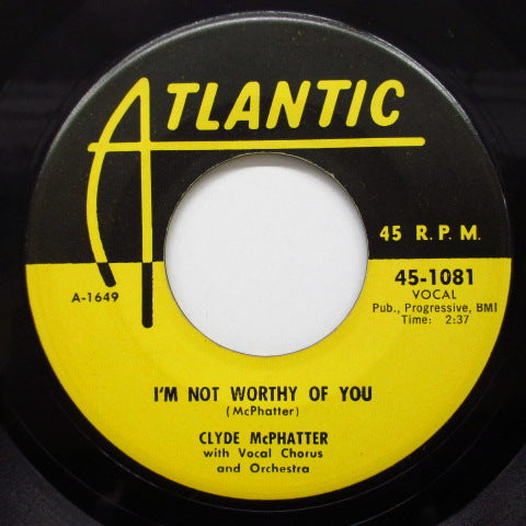 CLYDE McPHATTER - Seven Days / I'm Not Worthy Of You