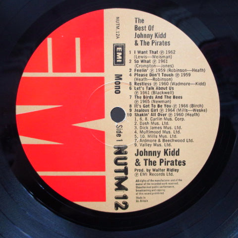 JOHNNY KIDD & THE PIRATES - The Best Of Johnny Kidd And The Pirates (UK Orig.Mono LP/CS)