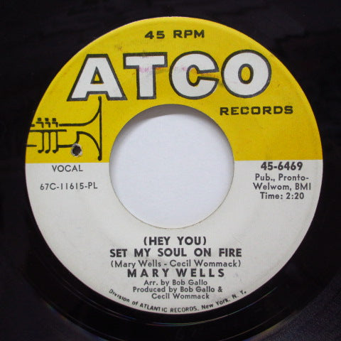 MARY WELLS - Set My Soul On Fire (Orig)