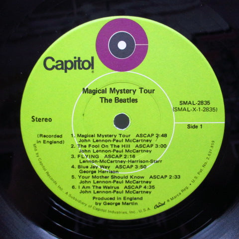 BEATLES - Magical Mystery Tour (US '69 Re Green Lbl.Stereo+Booklet)