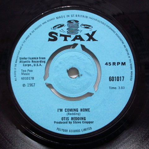 OTIS REDDING - I'm Coming Home (UK Orig/Round Center)