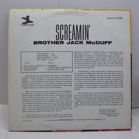 BROTHER JACK McDUFF-Screamin '(US '72 Reissue Stereo)