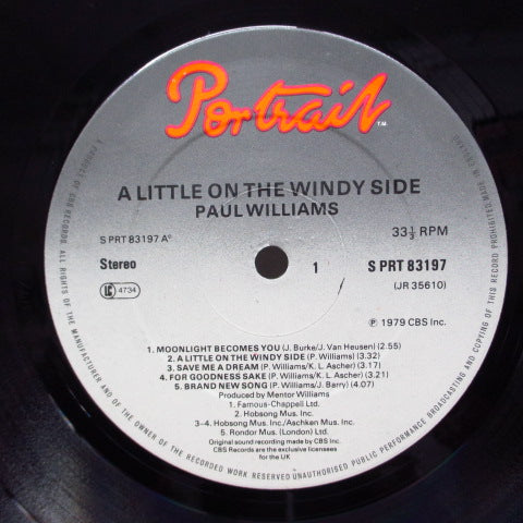 PAUL WILLIAMS - A Little On The Windy Side (UK:Orig.)