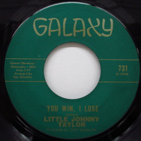 LITTLE JOHNNY TAYLOR - You Win, I Lose / Nightingale Melody