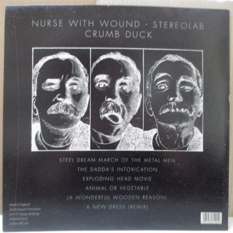 NURSE WITH WOUND / STEREOLAB - Crumb Duck (UK 500 Ltd RE Fluorescent Yellow Vinyl LP)