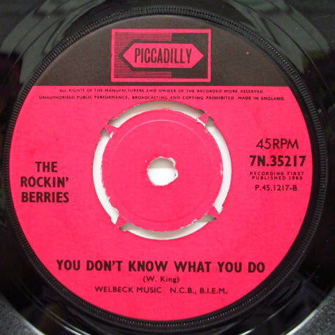 "ROCKIN' BERRIES - What In The World's Come Over You (UK Orig.7"")"