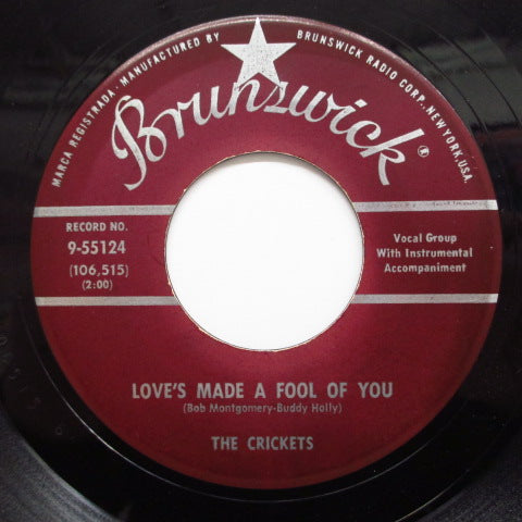 CRICKETS - Love's Made A Fool Of You (US Orig.)