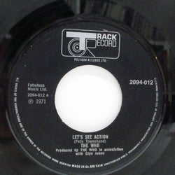 "WHO (フー)  - Let's See Action (UK Orig.Big Hole Centre 7"")"