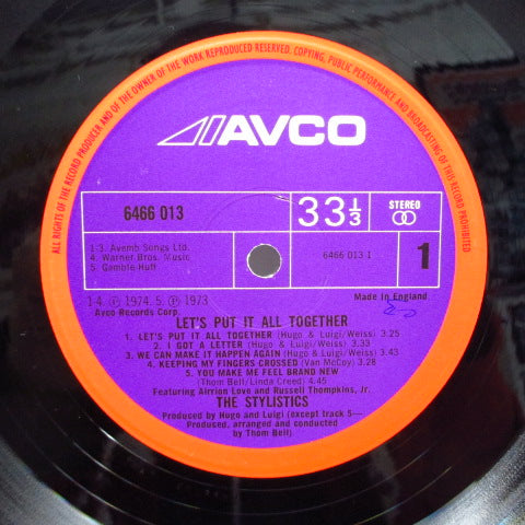 STYLISTICS-Let's Put It All Together (UK Orig.Orange Rim Purple Lbl./Double-sided CS)