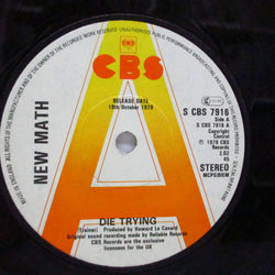 "NEW MATH - Die Trying (UK CBS Promo 7"")"