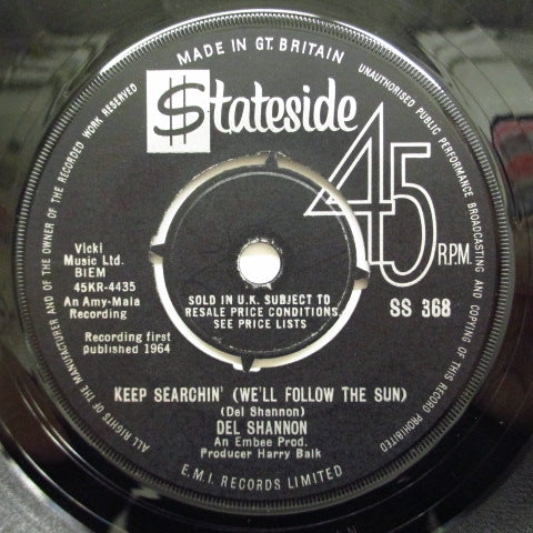 DEL SHANNON - Keep Searchin' (UK Orig.)