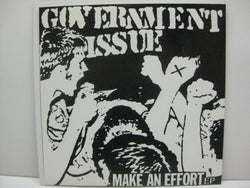 "GOVERNMENT ISSUE - Make An Effort EP (US  '96 Re Marble Vinyl 7"")"