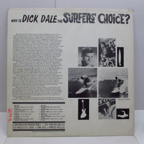 DICK DALE - Surfers' Choice (1st) (US '62 2nd Press Mono LP+US Orig.Autographed CVR)