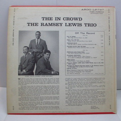 RAMSEY LEWIS TRIO-The In Crowd (US Orig.Stereo / Argo-757)