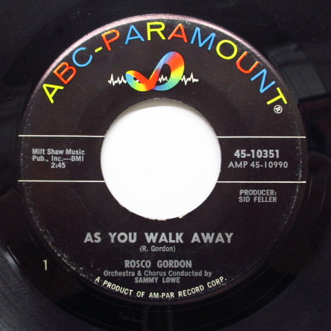 ROSCO GORDON - As You Walk Away (Orig)