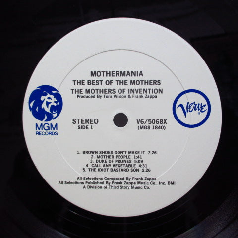 FRANK ZAPPA (MOTHERS OF INVENTION) - Mothermania The Best Of (US '72 MGM-Verve RE Stereo LP/GS)