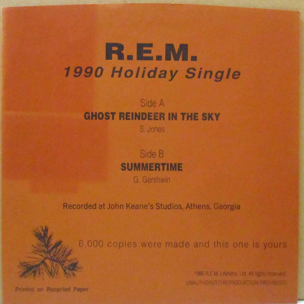 "R.E.M. - 1996 Holiday Single (US 6,000 Ltd.Fan Club 7""+Embossed PS)"