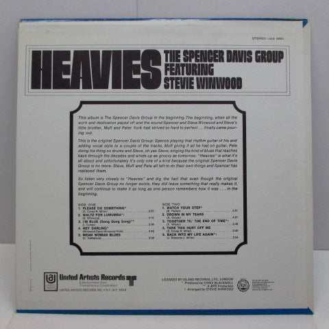 SPENCER DAVIS GROUP - Heavies (US:Orig.)