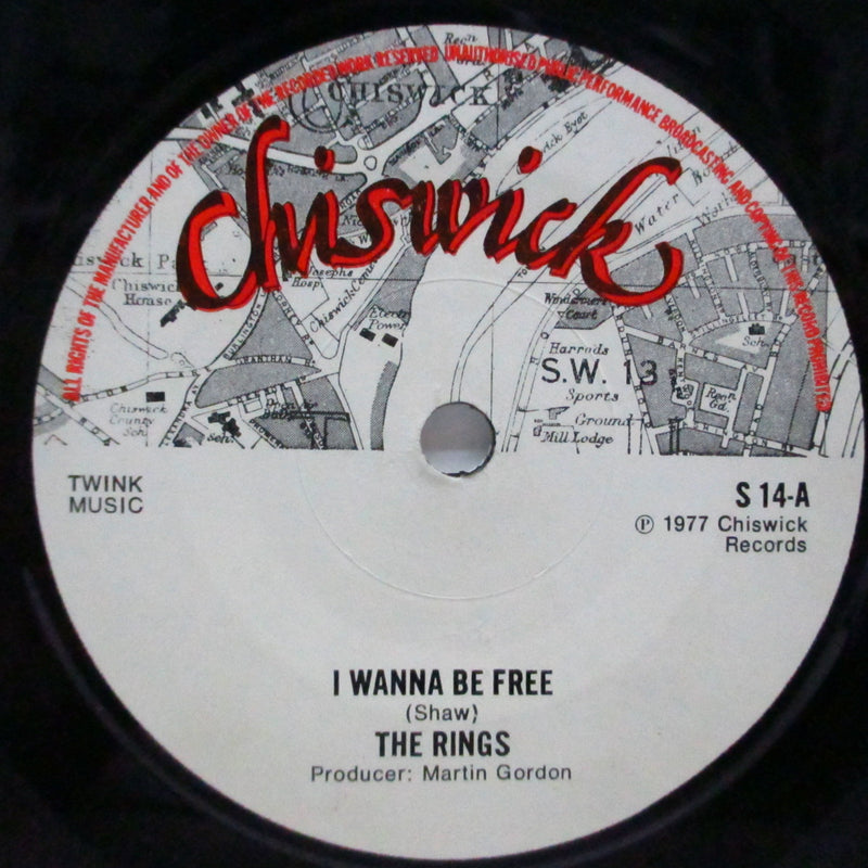 "RINGS, THE - I Wanna Be Free (UK Orig.7""+Laminated PS/S 14)"