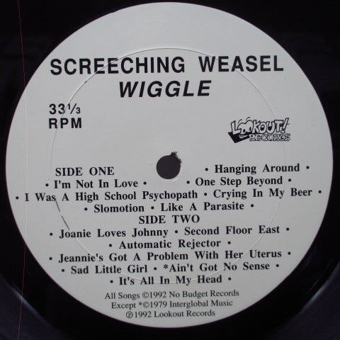 SCREECHING WEASEL - Wiggle (US Orig.LP)