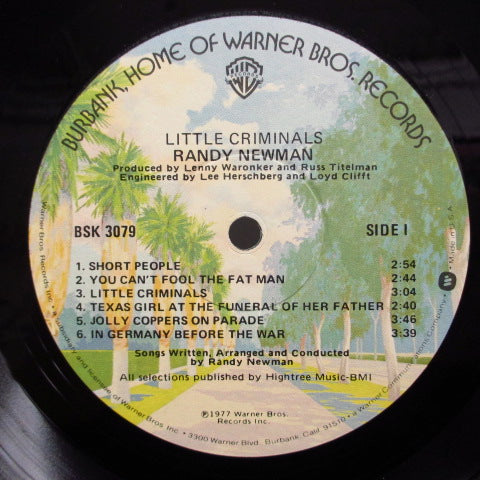 RANDY NEWMAN - Little Criminals (US Orig.)