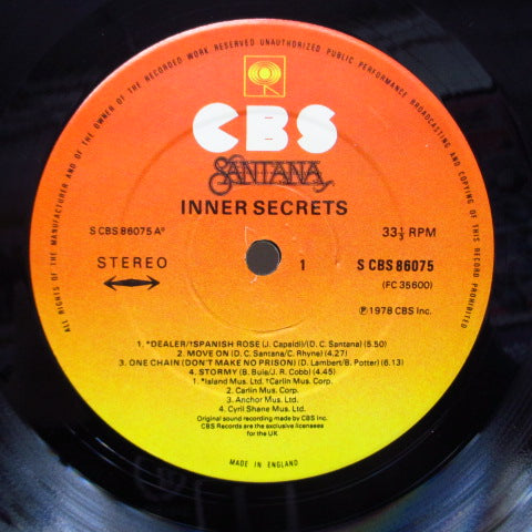 SANTANA - Inner Secrets (UK Orig.LP)