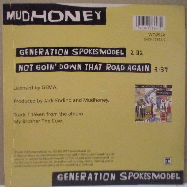 "MUDHONEY - Generation Spokesmodel (EU Ltd.Red Vinyl 7"")"