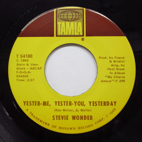 STEVIE WONDER - Yester-Me, Yester-You, Yesterday (Orig)