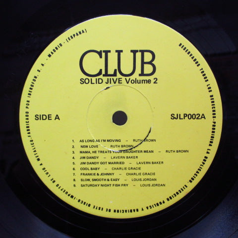V.A. - Solid Jive Vol.2 (Spain 80's LP)